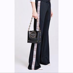 YUZEFI Black Bucket Bag Crossbody Gold Purse